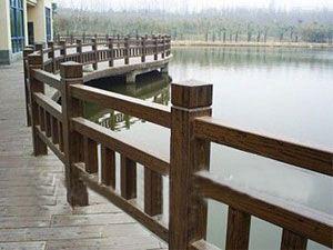 威海防腐木护栏