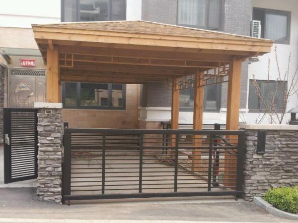 荣成威海木屋凉亭
